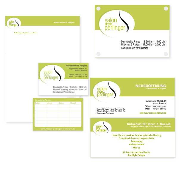 Grafikdesign und Printdesign, Corporate Design aus München Trudering, Geschäftsausstattung
