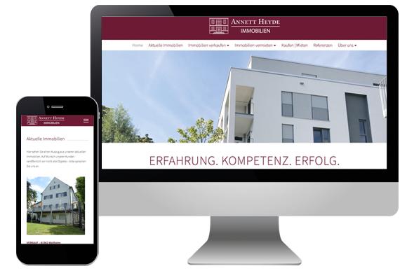 Webseite Immobilienmakler München