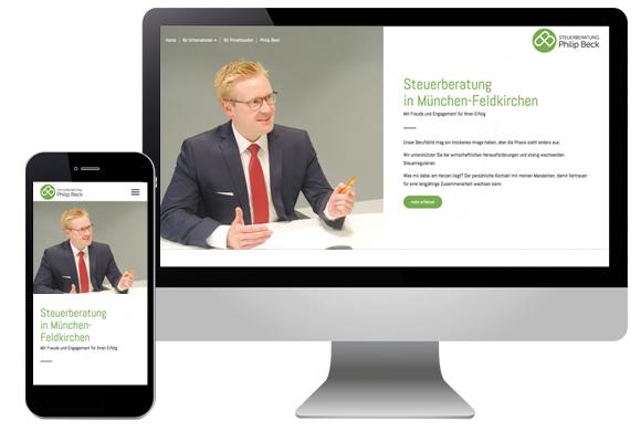 kleine Webseite für Steuerberater München